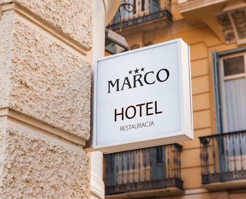 Plafon reklamowy Marco od Studio EFEKT