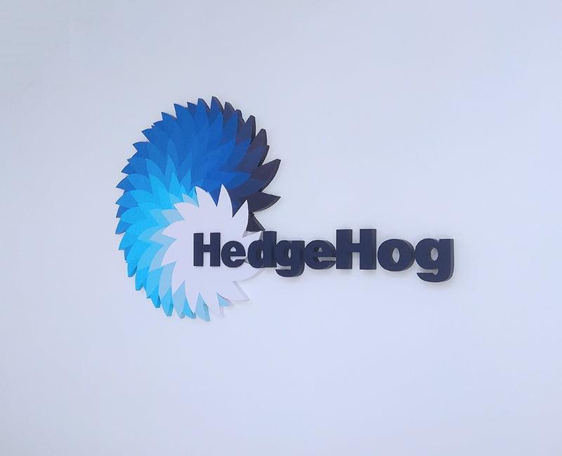Logo na ścianę firmy HedgeHog kolorowe od Studio Efekt