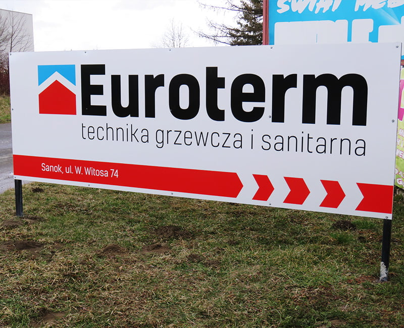 Baner reklamowy Euroterm od Studio Efekt