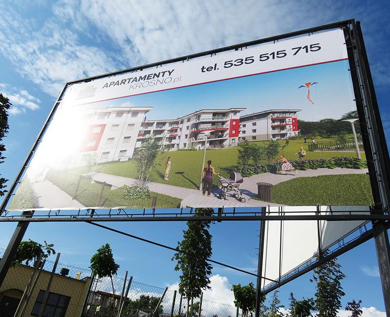 Baner reklamowy Apartamenty KrosnoBaner reklamowy Apartamenty Krosno od Studio Efekt
