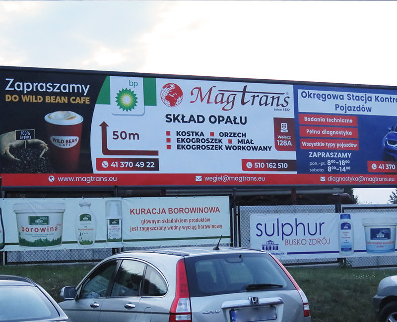 Szyld reklamowy MagTrans Reklama Efekt