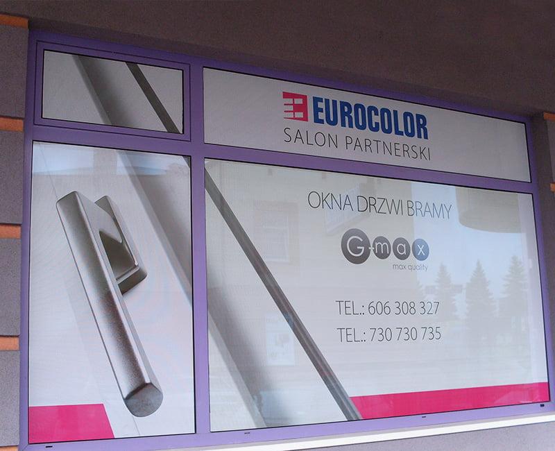 Oklejanie witryn folią owv dla Eurocolor Studio Efekt