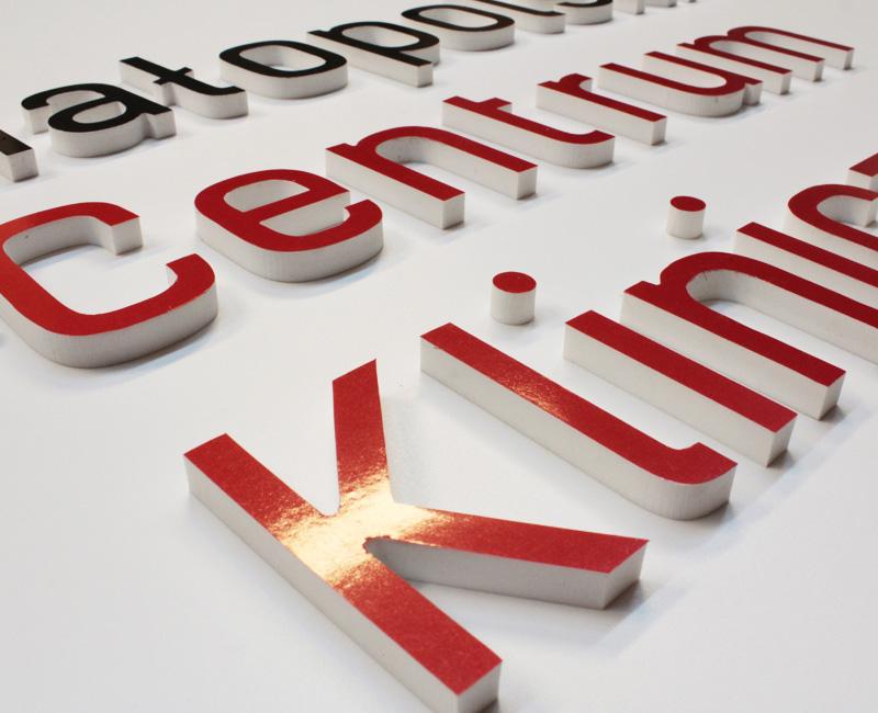 Logo 3D na ścianę Małopolskie Centrum kliniczne Studio Efekt