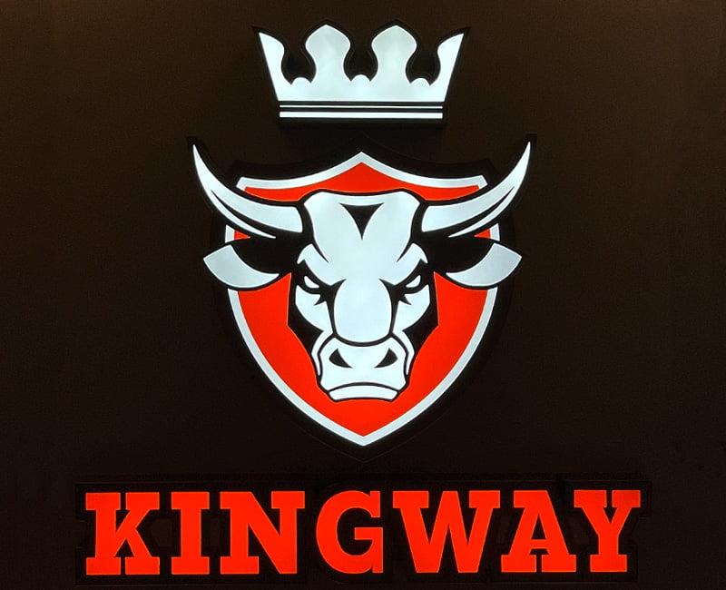 Szyld 3d podietlany Kingway agencja reklamowa efekt