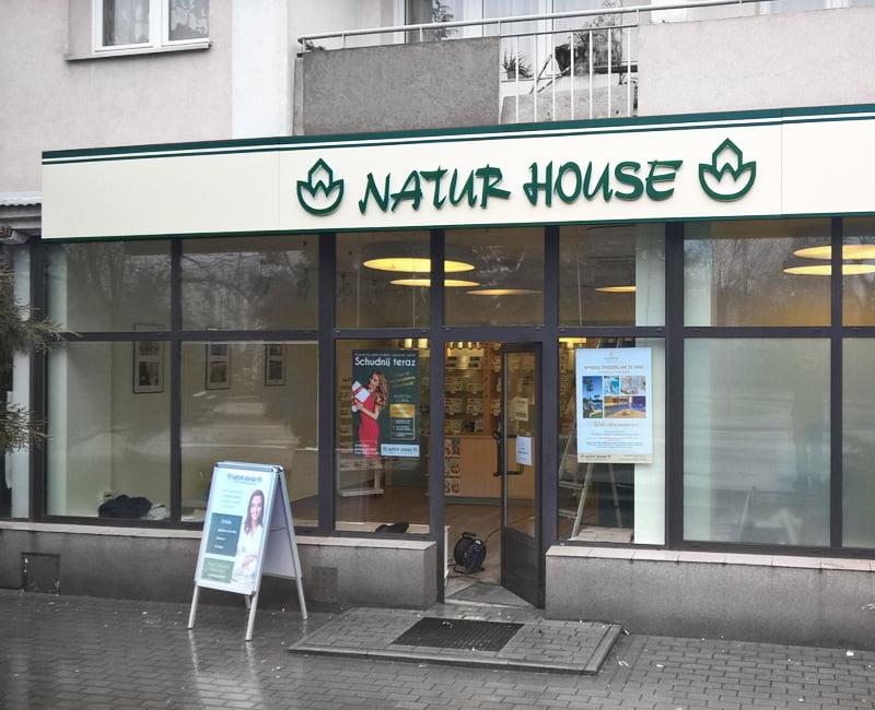 Baner podświetlany natur house od agencja reklamowa efekt