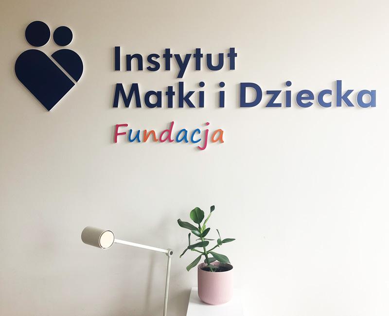 Logo 3D na ścianę IMiD
