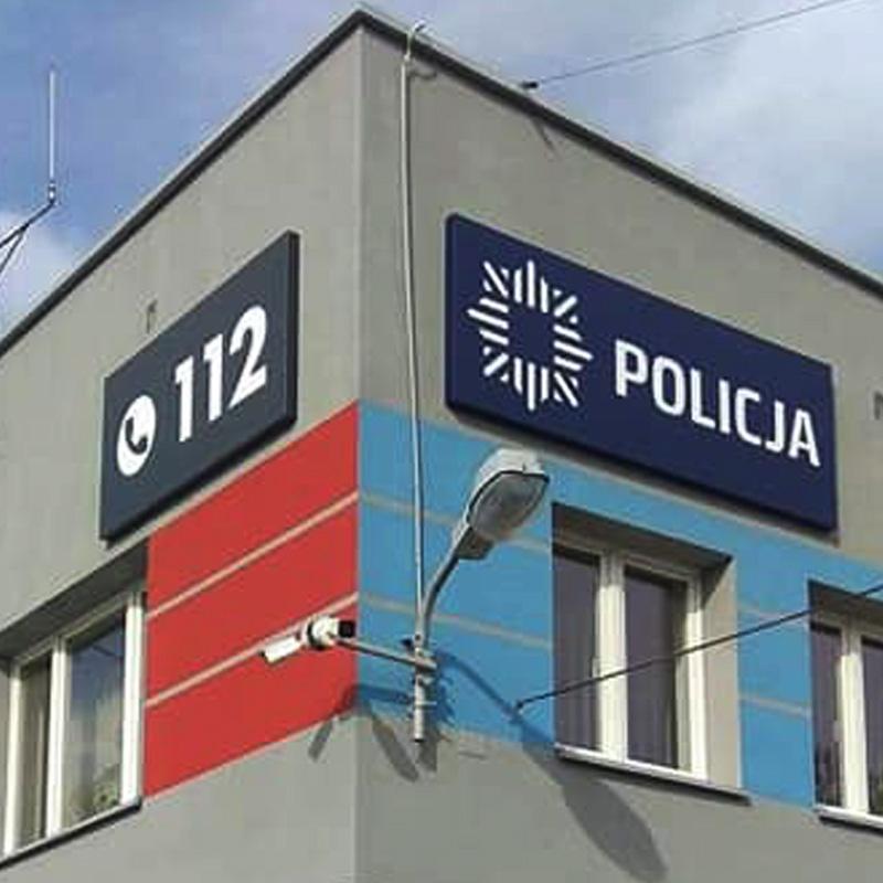 Kasetony reklamowe na siedzibie OSP i Policji Rymanów od Studio EFEKT