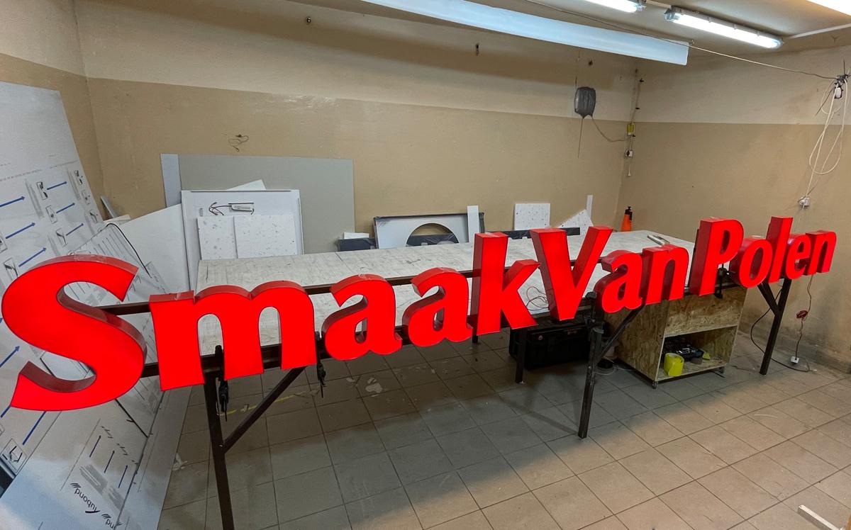 Litery 3D blokowe podświetlane