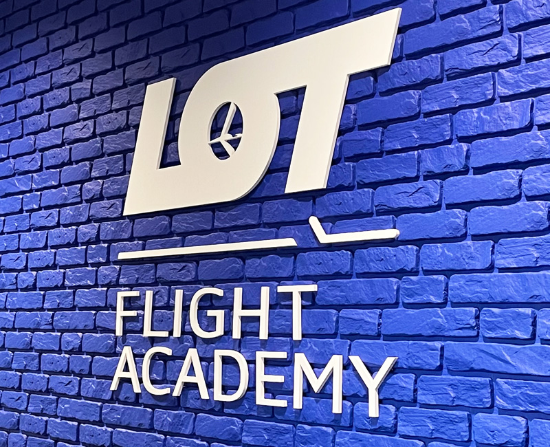 Logo 3D dla firmy LOT