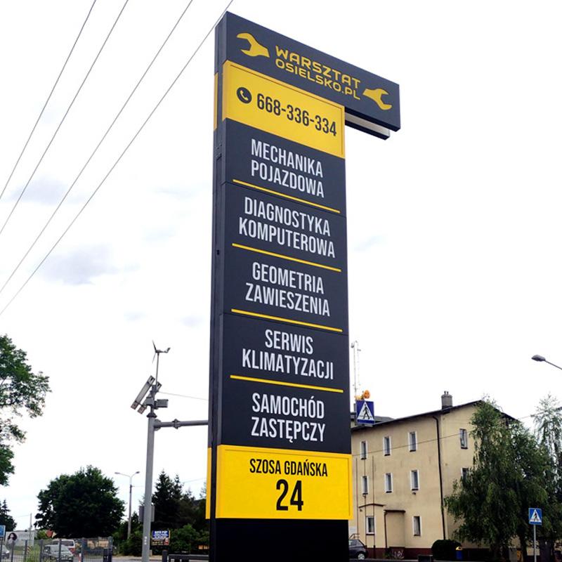 Totem reklamowy Warsztat Osielsko od Studio EFEKT