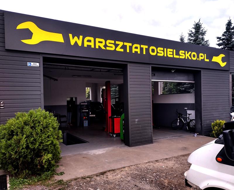 Kaseton reklamowy Warsztat Osielsko.pl Reklama EFEKT