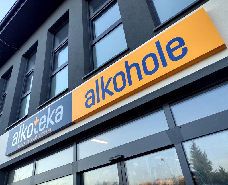 Kaseton reklamowy dla Alkoteki od Studio EFEKT