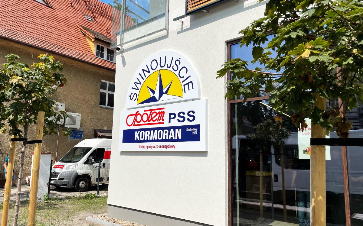 Kasetony reklmamowe dla sklepu Społem w Swinoujściu od Studio EFEKT