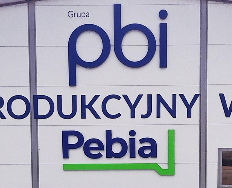 Litery 3D reklamowe Pebia od Studio EFEKT