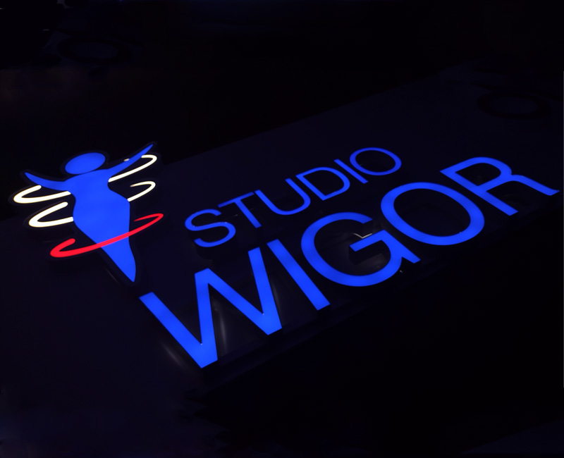 Litery 3D oraz logotyp Studio Wigor od Studio Efekt